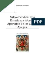 Sakya Pandita Una Enseñanza sobre Apartarse de los Cuatro Apegos.