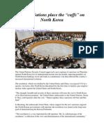 "United Nations put the ""cuffs"" o North Korea"