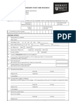 PostGraduate Application Form