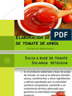 Elaboracion de Salsa de Tomate de Arbol