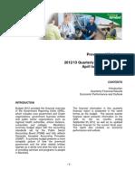 2012/13 Quarterly Financial Report April to September 2012