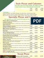 olivios pizzeria menu