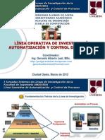 Linea Automatizacion y Control 2012 Jornadas Lineas de Investigacic3b3n Ingenierc3ada