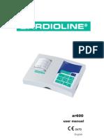 Cardioline Ar600 - User Manual