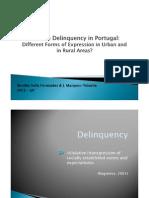 Juvenile Delinquency in Portugal