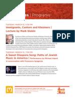 Berkeley Seminars in Modern Jewish Culture 2013