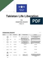 Takistan Life Liberation - Promotion Registry
