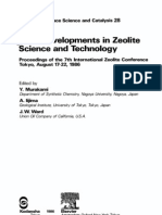 Developments in Zeolite 1986