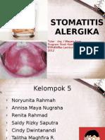 STOMATITIS ALERGIKA ppt