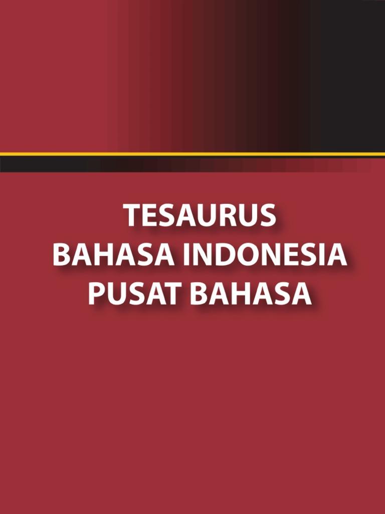 Depdiknas - Tesaurus Bahasa Indonesia d4fc90f8dc