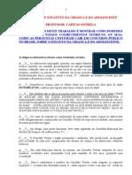 penal - resumo geral do eca ( estatuto da criança e do adolescente ) na forma de simulado com gabarito comentado dos principais concursos do brasil