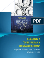 Leccion 4 Disciplina y Restauracion