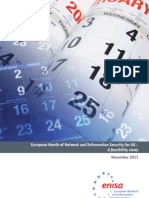 European month of network and information security for all – a feasibility study