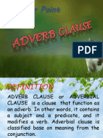 Adverb Clause Presentation