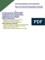 Proposta de Reforma PolÍtica para o Brasil - J. A. Dal Col