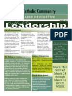 March 2013 Ministry Newsletter