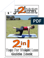 2 in 1 Yoga for Weight Loss Guide Book