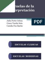 Escuelas de Interpretacion