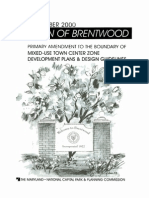 Brentwood, Maryland, Mixed-Use Town Center Guidelines