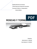 Roscas y Tornillos (Elementos de Maquinas)