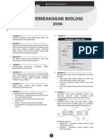 Pembahasan Un Biologi 2006