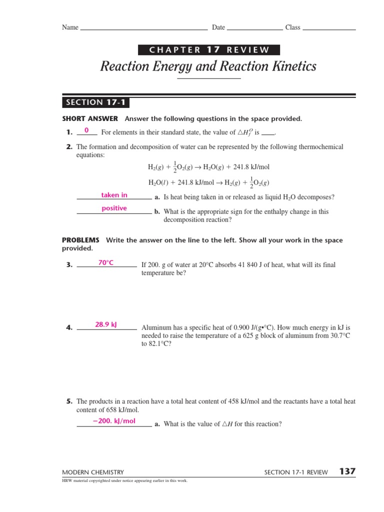 Chemistry 17 | Catalysis | Chemical Reactions