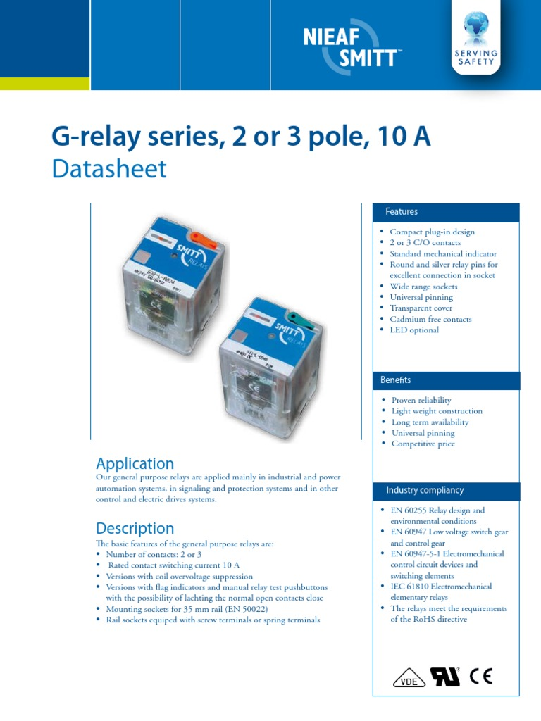 Datasheet G Relays Relay Electrical Connector 5 Pin