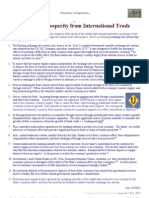 Monetary Independence - or - Excluding Prosperity from International Trade