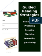 Guided Reading Activities and Worksheets Introduction Common Core