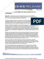 AAMDC Response to Budget 2013