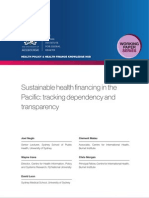 Sustainable health financing in the Pacific (WP22)