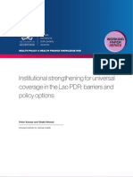 Institutional and operational barriers to strengthening universal coverage in the Lao PDR