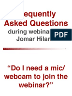 Frequently Asked Questions During Webinars by Jomar Hilario