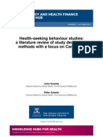 Health-seeking behaviour studies
