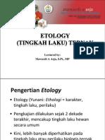 1 - 2 Ethology (Tingkah Laku) Ternak