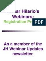 JH Webinar Registration Process