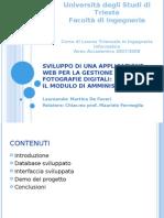 Sviluppo di una applicazione web per la gestione di fotografie digitali