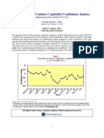 Silicon Valley Venture Capitalist Confidence Index Report 2012 Q4