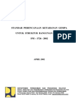 Sni 03-1726-2002 Std Perc Ketahanan Gempa Str Bang Gedung