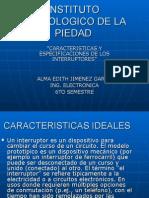 Caracteristicas y Especificaciones de Los Dispositivos