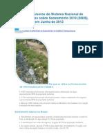 Principais números do Sistema Nacional de Informações sobre Saneamento 2010