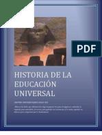 Historia de La Educacion Universal ( Ensayo)