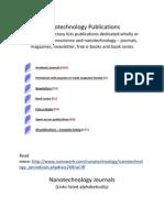 Nanotechnology Publications