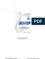 JOHSP - The Link Between Stress, Psychopathology, Immunity and Somatoform Disorders- A Review