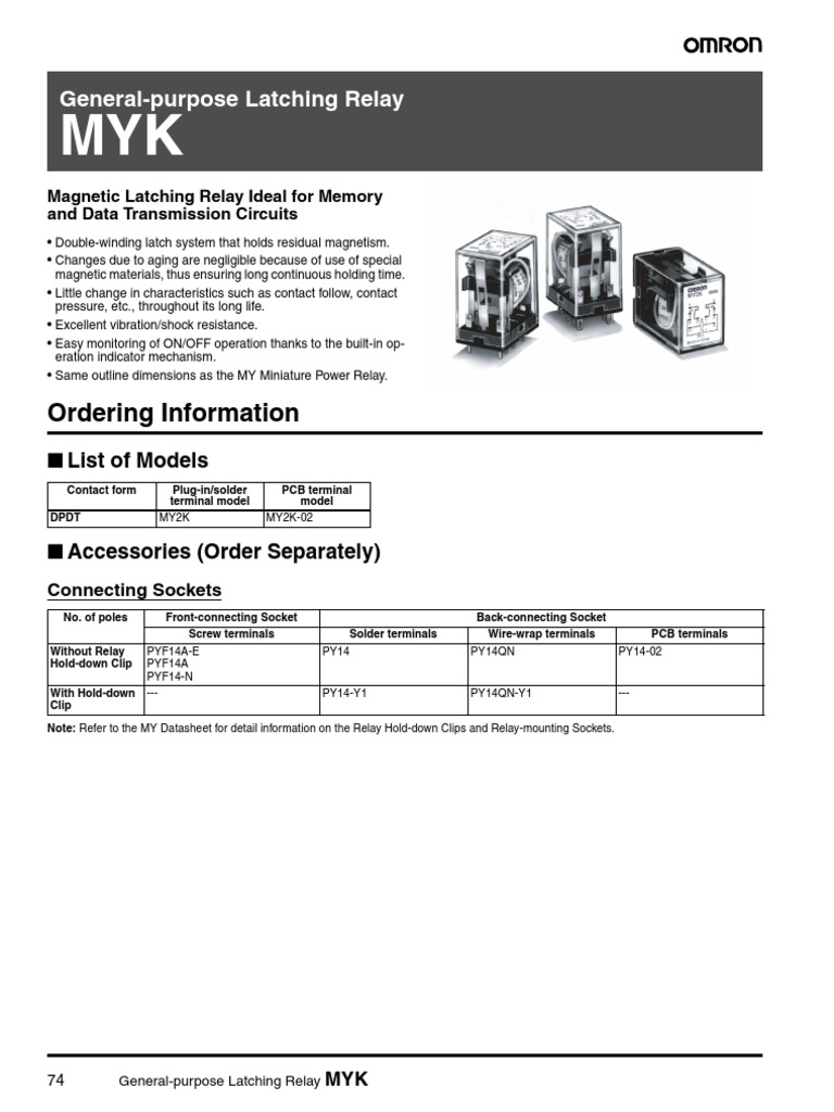 J013   Relay   Alternating Current Omron Pyf A E Wiring Diagram on