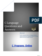 Programming in C Language Question and Answers