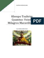 Khenpo Tsultrim Gyamtso Veinte Milagros