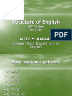 Structure of English Review Mat June 2011