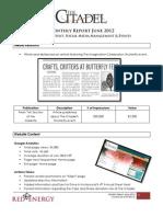 The Citadel Monthly Report- June