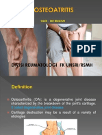 Dr. Edi Hidayat, Osteoatritis